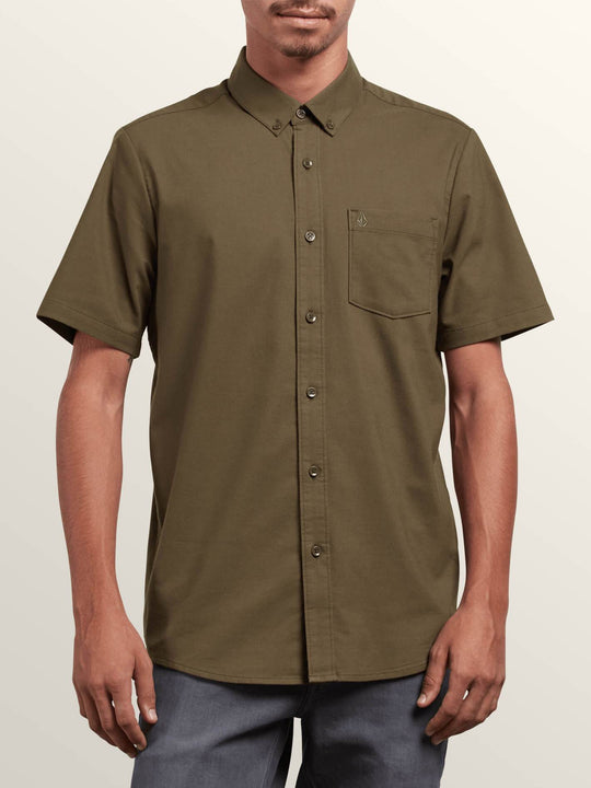 Everett Oxford Short Sleeve Shirt - Military