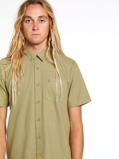 Everett Oxford Short Sleeve - Mossstone (A0411801_MSS) [08]