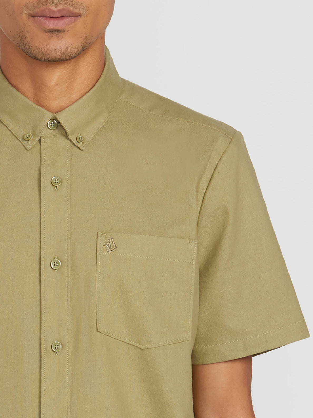 Everett Oxford Short Sleeve - Mossstone (A0411801_MSS) [1]