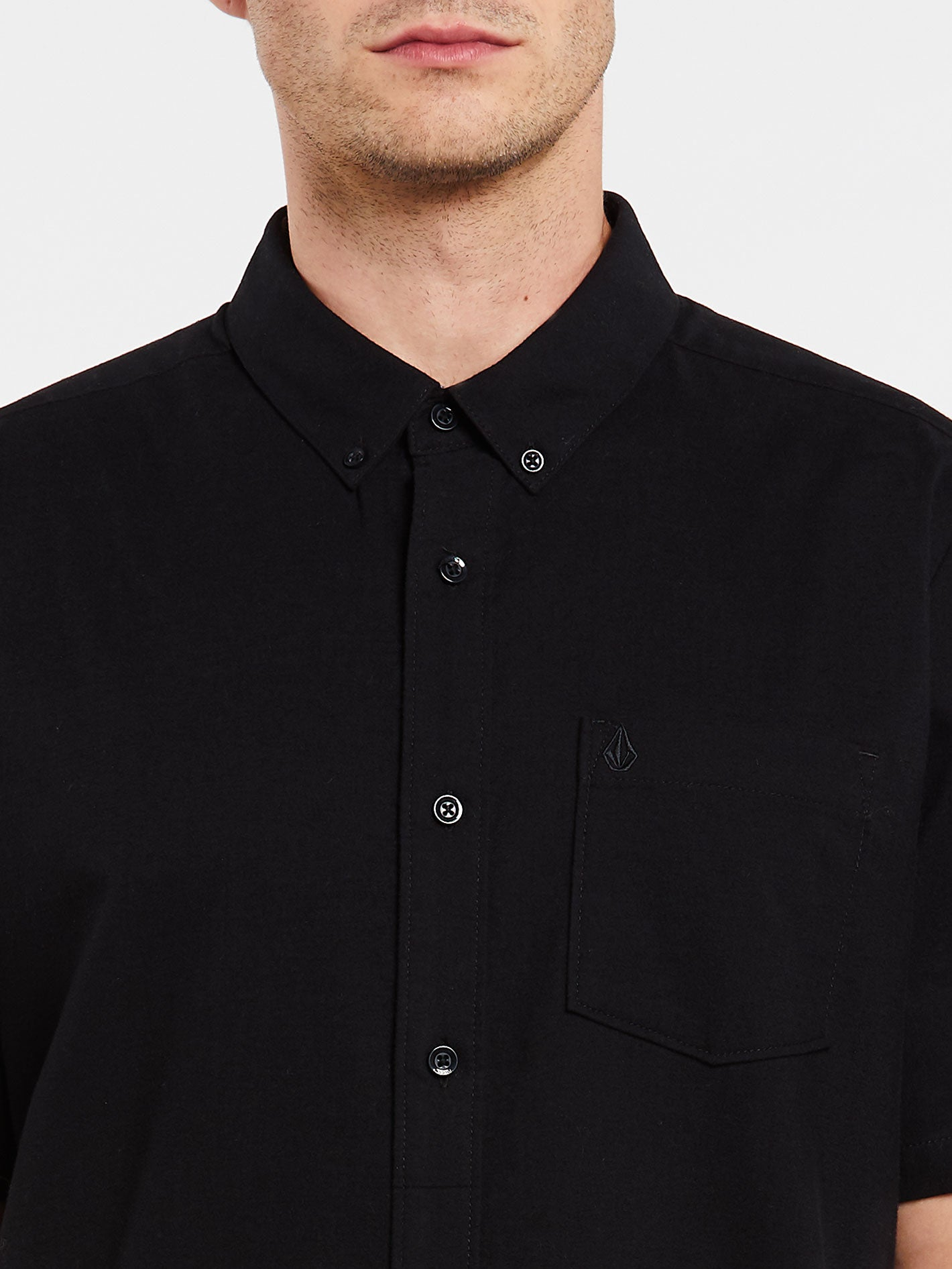 bc7be3e1101c1e Everett Oxford Short Sleeve Shirt - New Black in NEW BLACK - Alternative  View