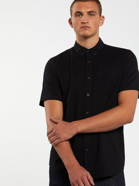 Everett Oxford Short Sleeve - New Black (A0411801_NBK) [2]