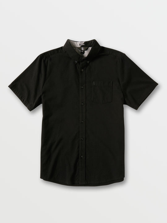 Everett Oxford Short Sleeve - New Black (A0411801_NBK) [F]