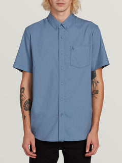 Everett Oxford Short Sleeve Woven Shirt - Blue Rinse (A0411801_RNE) [F]