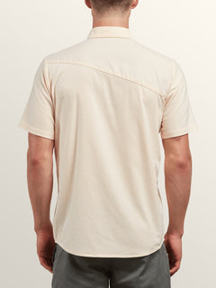 Everett Oxford Short Sleeve Shirt In Sunburst, Back View
