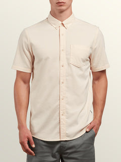 Everett Oxford Short Sleeve Shirt In Sunburst, Front View