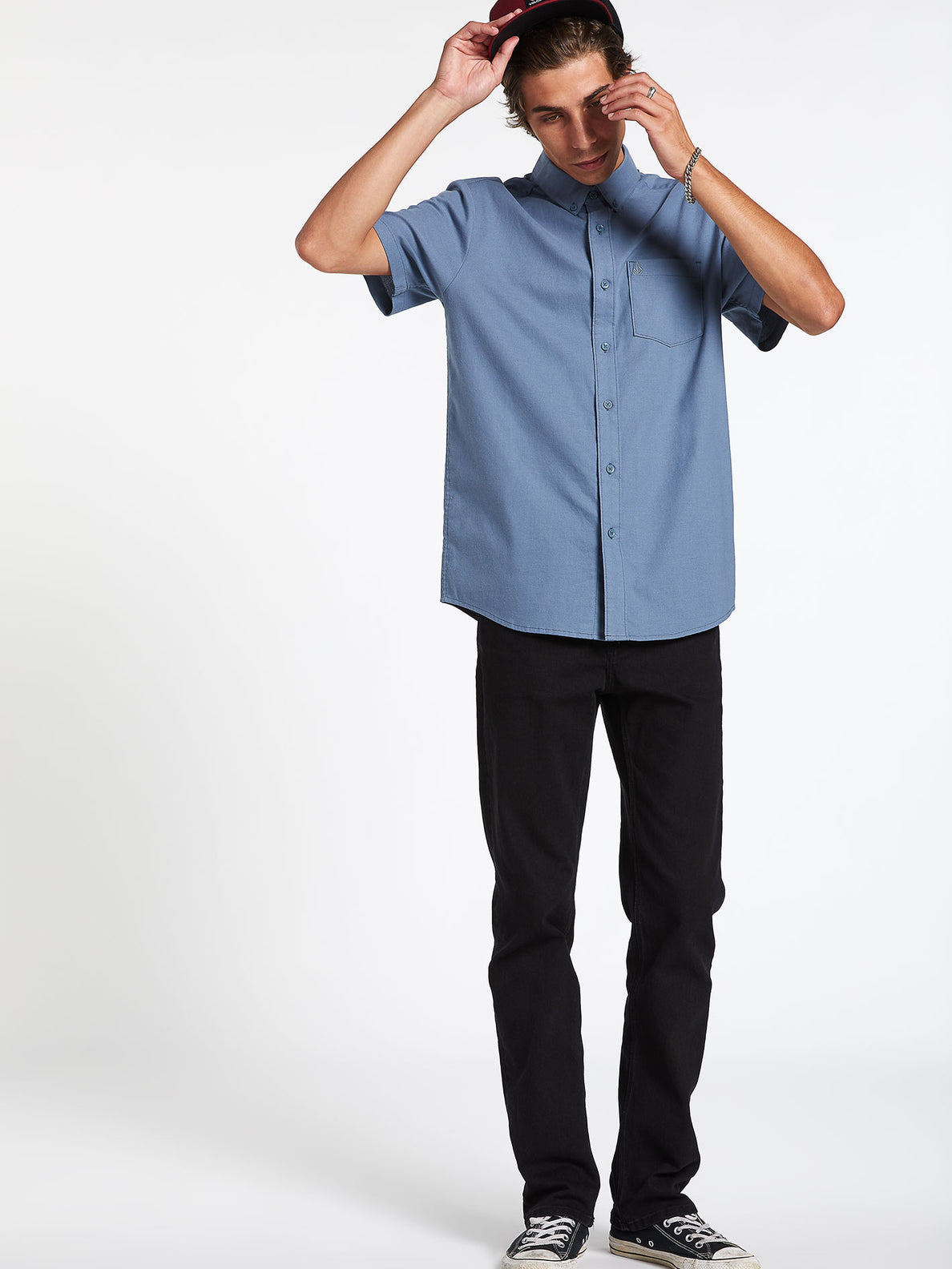 Everett Oxford Short Sleeve - Stormy Blue (A0411801_STB) [10]