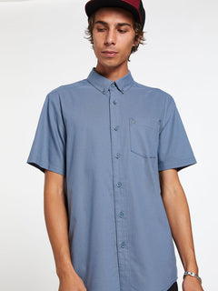 Everett Oxford Short Sleeve - Stormy Blue (A0411801_STB) [17]