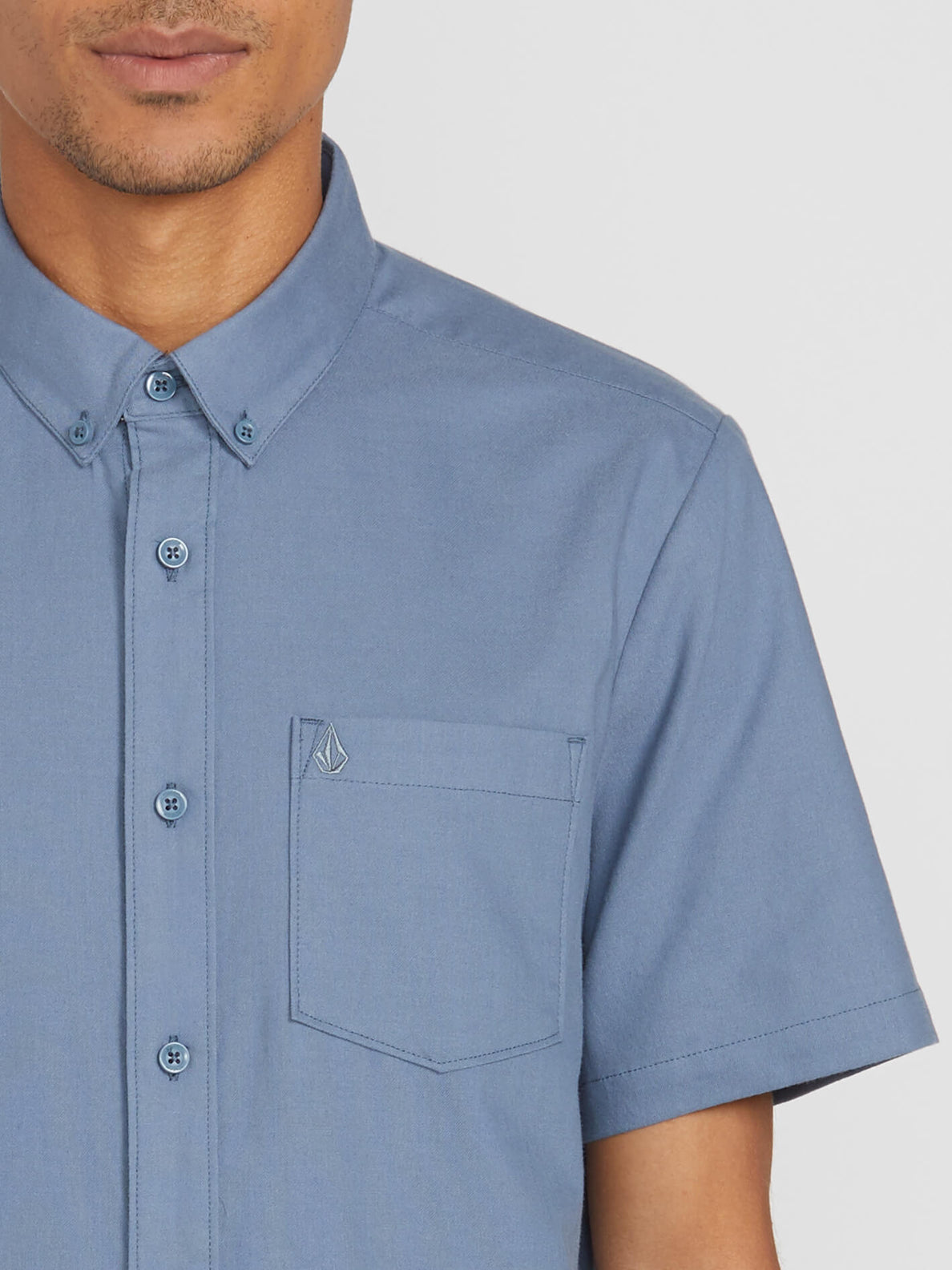 Everett Oxford Short Sleeve - Stormy Blue (A0411801_STB) [1]