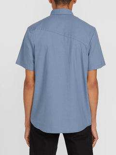 Everett Oxford Short Sleeve - Stormy Blue (A0411801_STB) [B]