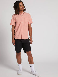 Everett Oxford Short Sleeve Woven Shirt - Tigerlily (A0411801_TGL) [2]