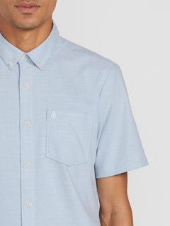 Everett Oxford Short Sleeve - Wrecked Indigo (A0411801_WRC) [1]