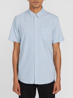 Everett Oxford Short Sleeve - Wrecked Indigo (A0411801_WRC) [F]