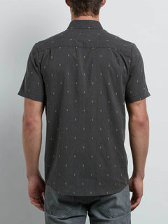 Gladstone Shirt In Black, Back View