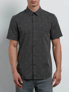 Gladstone Shirt In Black, Front View