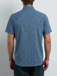 Gladstone Shirt In Deep Blue, Back View