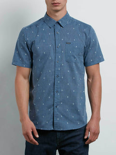 Gladstone Shirt In Deep Blue, Front View