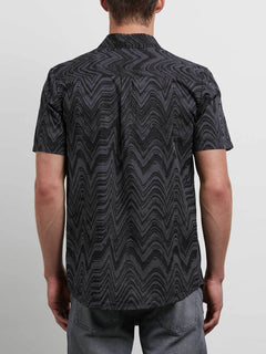 Lo-fi Shirt In Asphalt Black, Back View