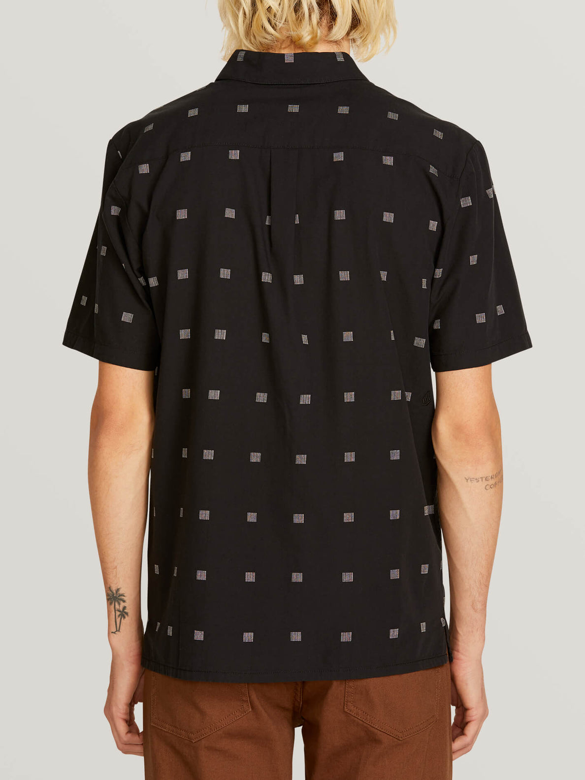 Morty Short Sleeve Shirt In Black, Back View