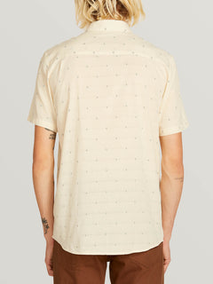 Magstone Short Sleeve Shirt In Off White, Back View