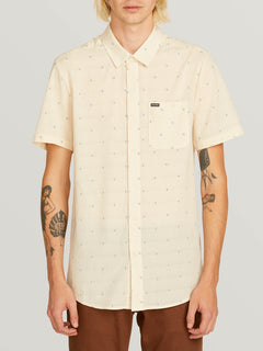 Magstone Short Sleeve Shirt In Off White, Front View