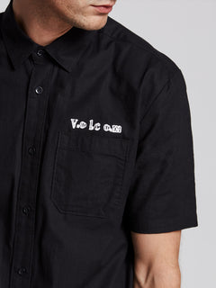 Crowd Control Short Sleeve Shirt In Black, Third Alternate View
