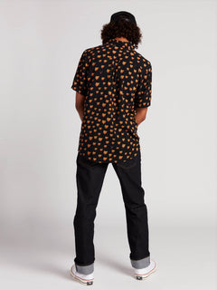 Ozzie Cat Short Sleeve Shirt In Black, Second Alternate View