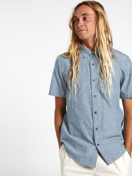 Archive Mark Short Sleeve - Stormy Blue