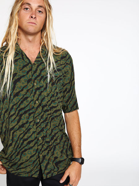 Embertone Short Sleeve - Army Green Combo