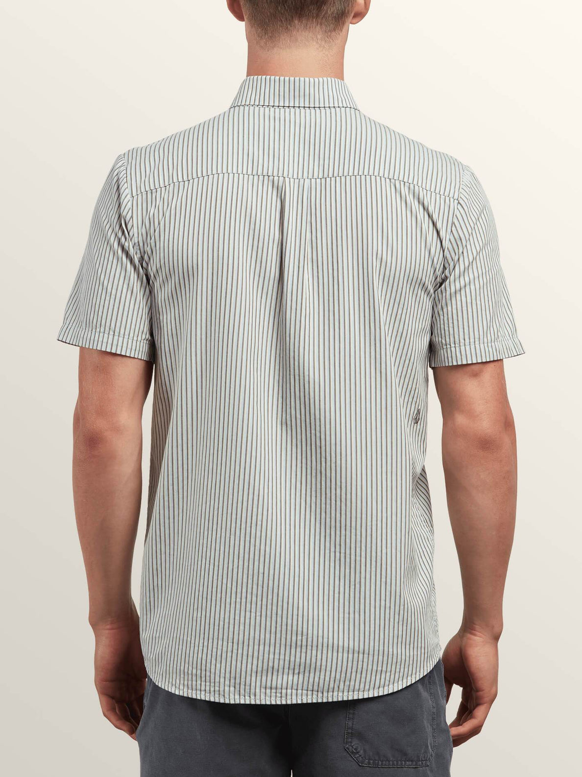 Mix Bag Short Sleeve Shirt In Mist Green, Back View