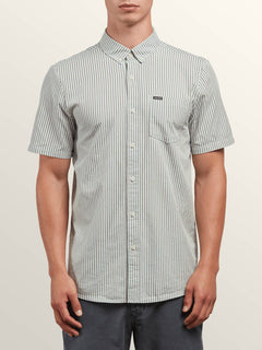 Mix Bag Short Sleeve Shirt In Mist Green, Front View