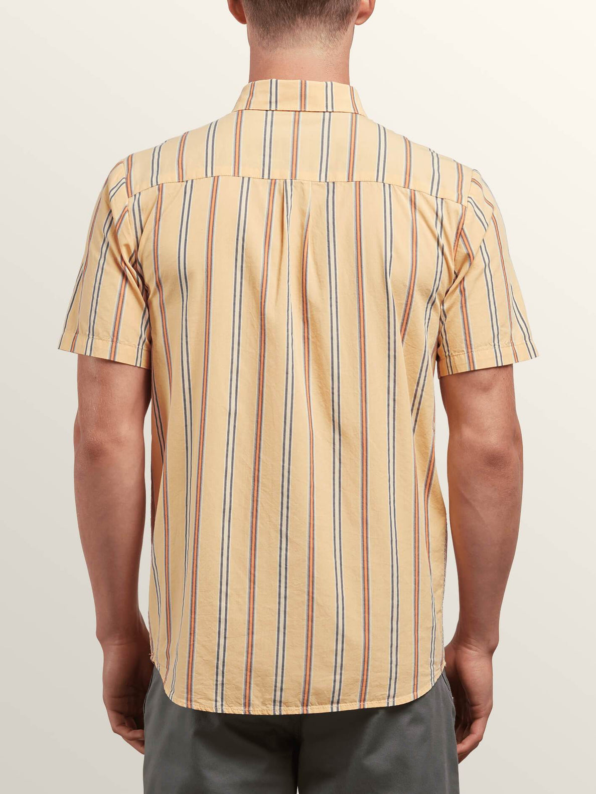 Mix Bag Short Sleeve Shirt In Sunburst, Back View