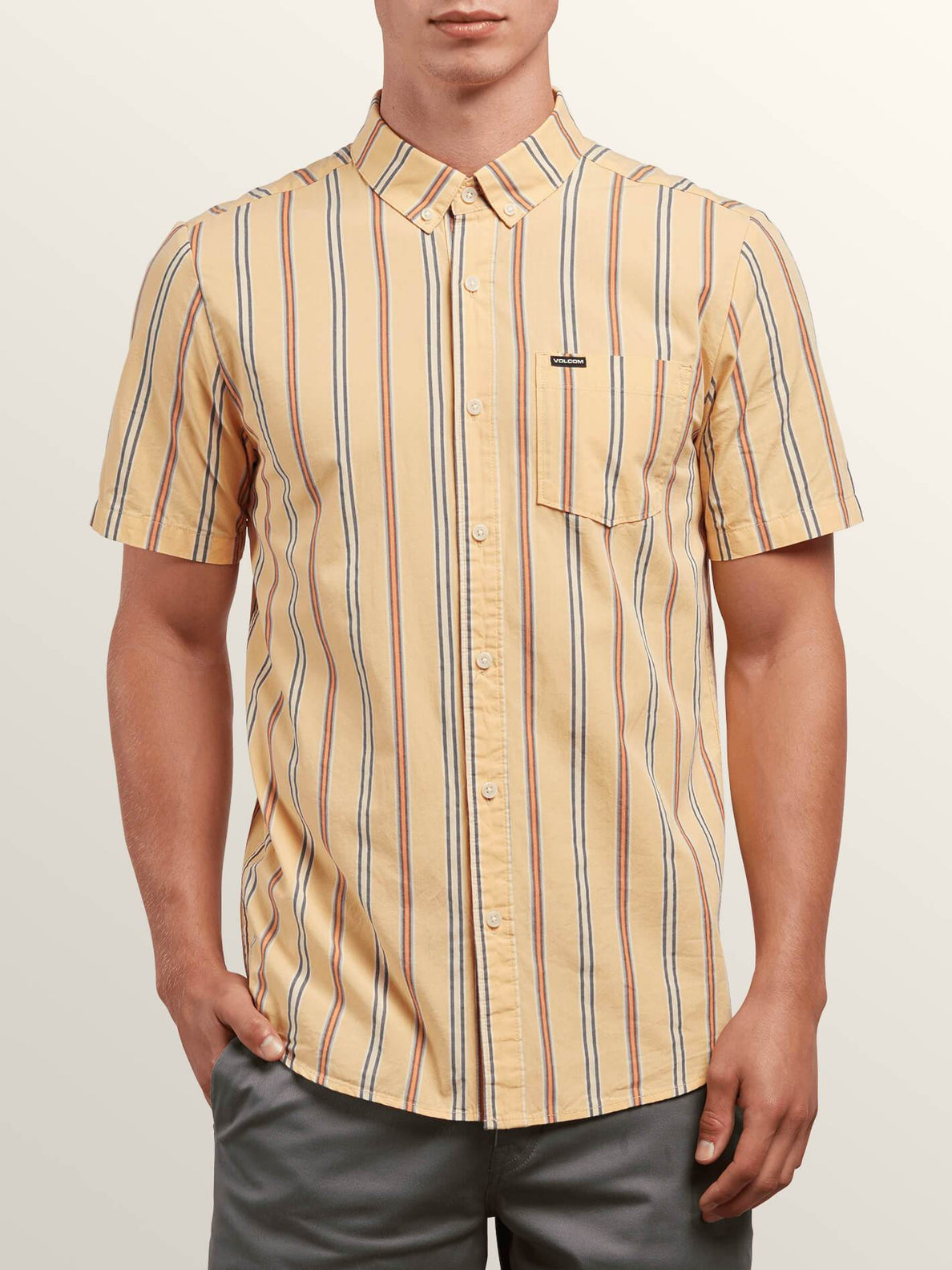 Mix Bag Short Sleeve Shirt In Sunburst, Front View