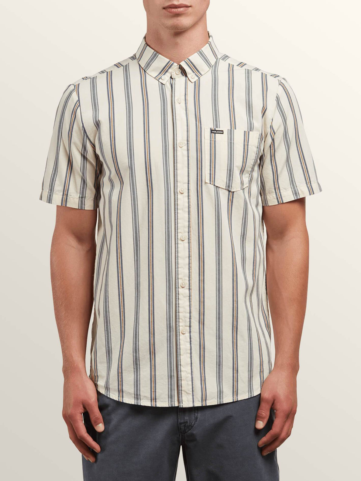 Mix Bag Short Sleeve Shirt In White Flash, Front View