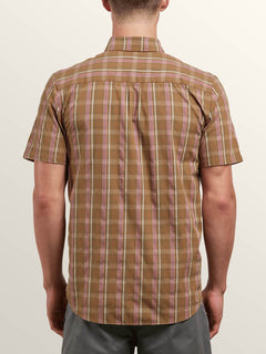 Melvin Short Sleeve Shirt In Beige, Back View