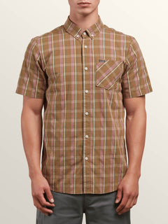 Melvin Short Sleeve Shirt In Beige, Front View