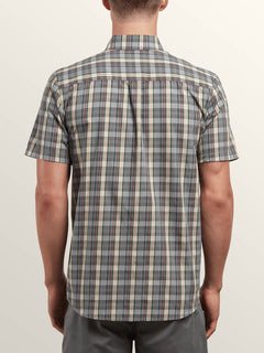 Melvin Short Sleeve Shirt In Cement Grey, Back View