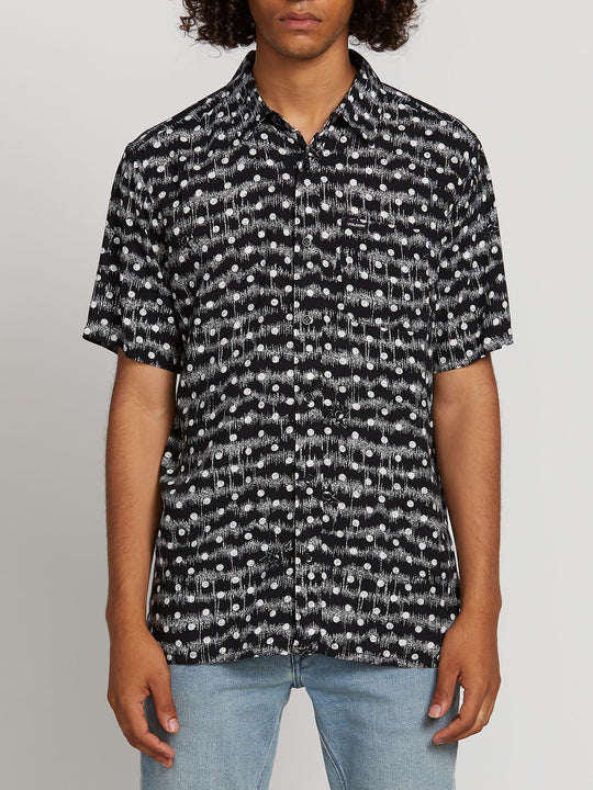Mag Sketch Short Sleeve Shirt - Black (A0421903_BLK) [F]