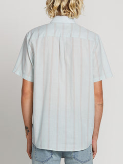 1226e02d9c0 ... Rilee Short Sleeve Shirt In Sea Glass, Back View