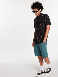 Party Pieces Short Sleeve - Black (A0422008_BLK) [07]