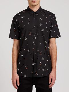 Party Pieces Short Sleeve - Black (A0422008_BLK) [F]