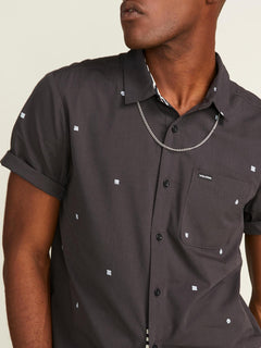 Dragstone Short Sleeve Shirt In Asphalt Black, Alternate View