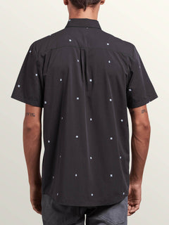 Dragstone Short Sleeve Shirt In Asphalt Black, Back View