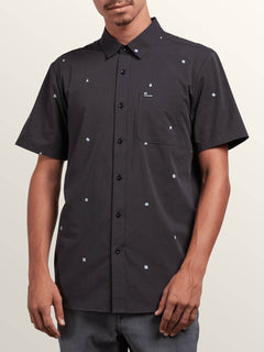 Dragstone Short Sleeve Shirt In Asphalt Black, Front View