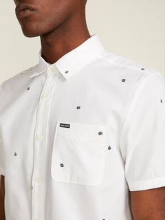 Dragstone Short Sleeve Shirt In White, Second Alternate View