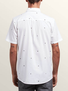 Dragstone Short Sleeve Shirt In White, Back View