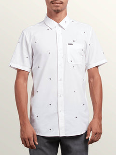 Dragstone Short Sleeve Shirt In White, Front View