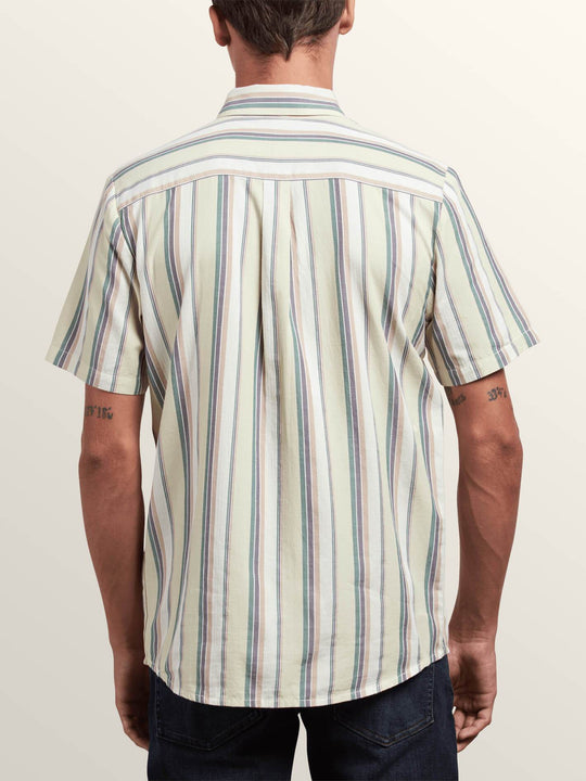 Multi Toner Short Sleeve Shirt In Sage, Back View