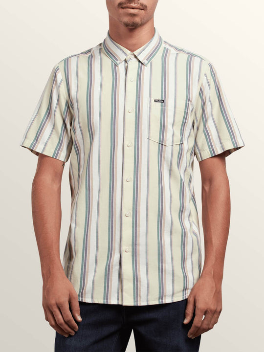 Multi Toner Short Sleeve Shirt In Sage, Front View