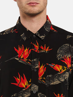 Floral Erupter Short Sleeve - Black (A0432001_BLK) [1]