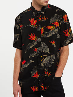 Floral Erupter Short Sleeve - Black (A0432001_BLK) [2]